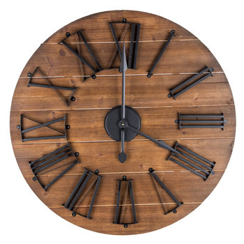 Round Natural Wood Wall Clock